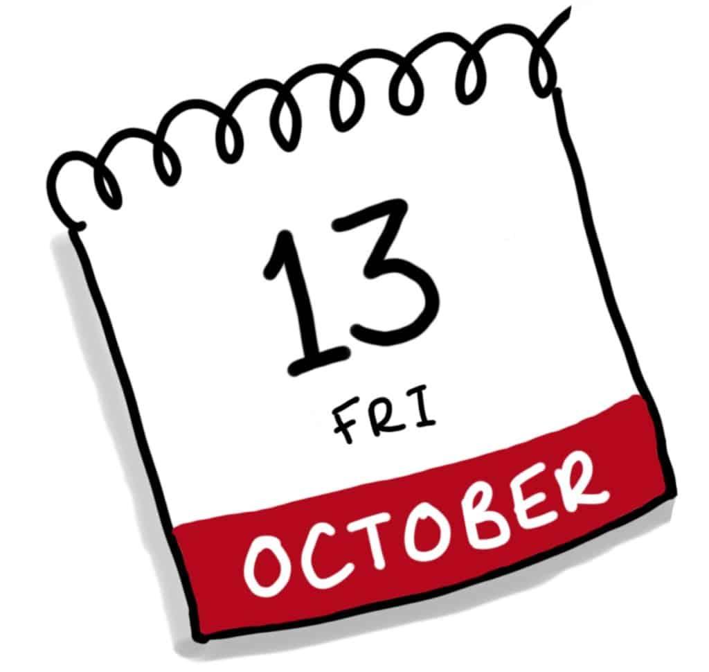 Calendar showing date Thursday 16th February